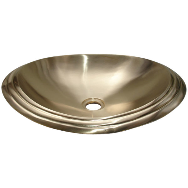 Cast Bronze Sink Oval Shiny Yellow - Coppersmith Creations