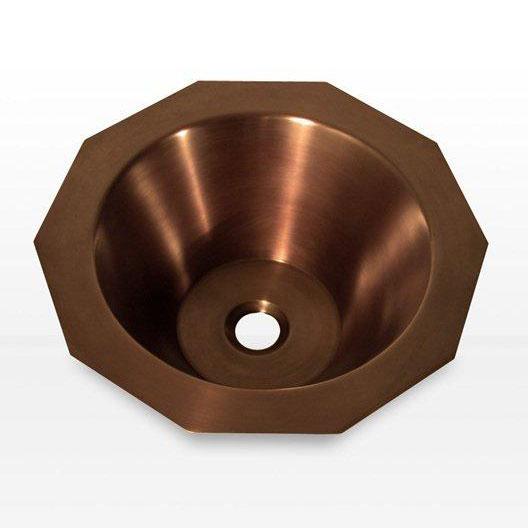 Copper Sink Double Wall Decagon Shape