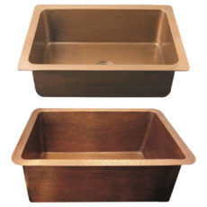 Copper Kitchen Sink Single Wall Design