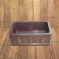 Copper Farmhouse Sink 3 Flower Front Apron