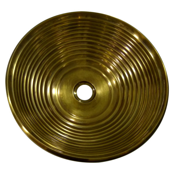 Cast Bronze Sink Round Antique Bronze Finish - Coppersmith Creations