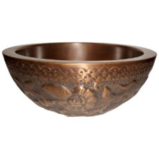Copper Sink Double wall Embossing on outer wall - Coppersmith Creations