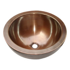 Double Walled Outside Hammered Copper Sink - Coppersmith Creations