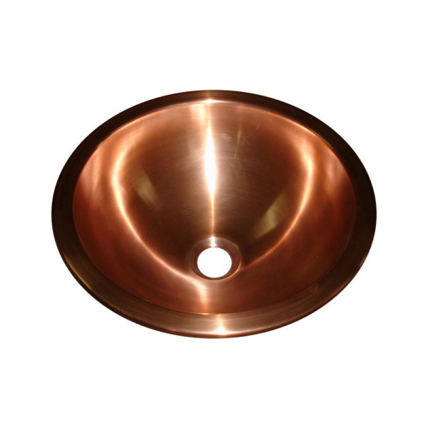 Copper Sink Double Walled Smooth Finish - Coppersmith Creations