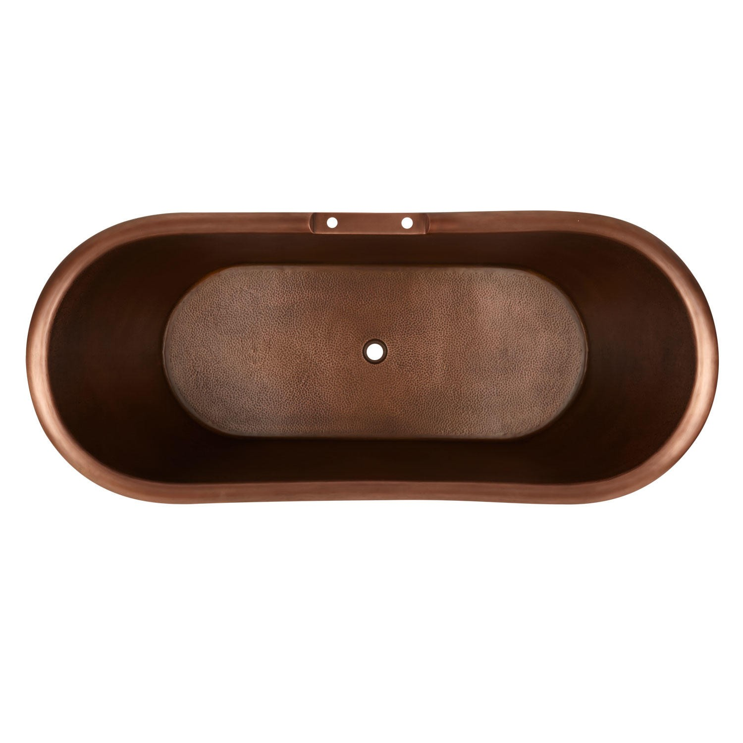 Hammered Clawfoot Copper Double Slipper Tub   Coppersmith® Creations