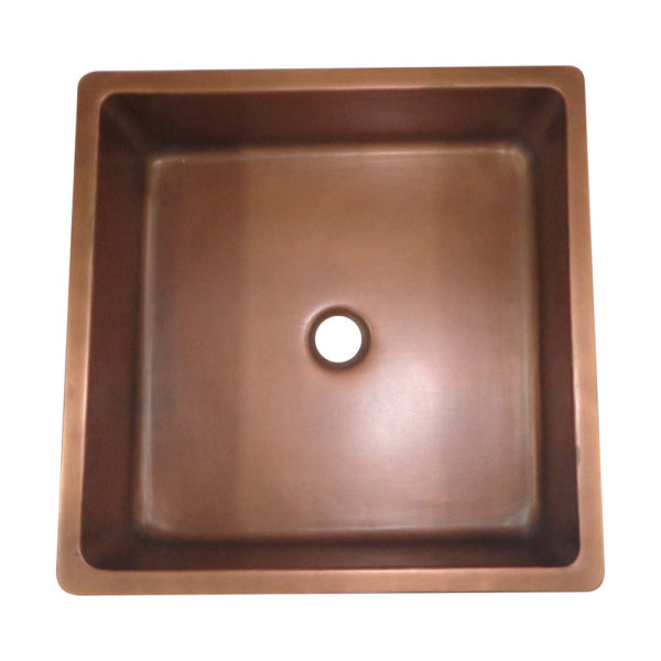 Square Double Wall Copper Sink - Coppersmith Creations