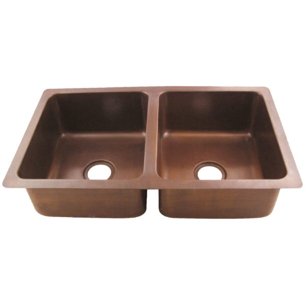 Copper Double Bowl Kitchen Sink