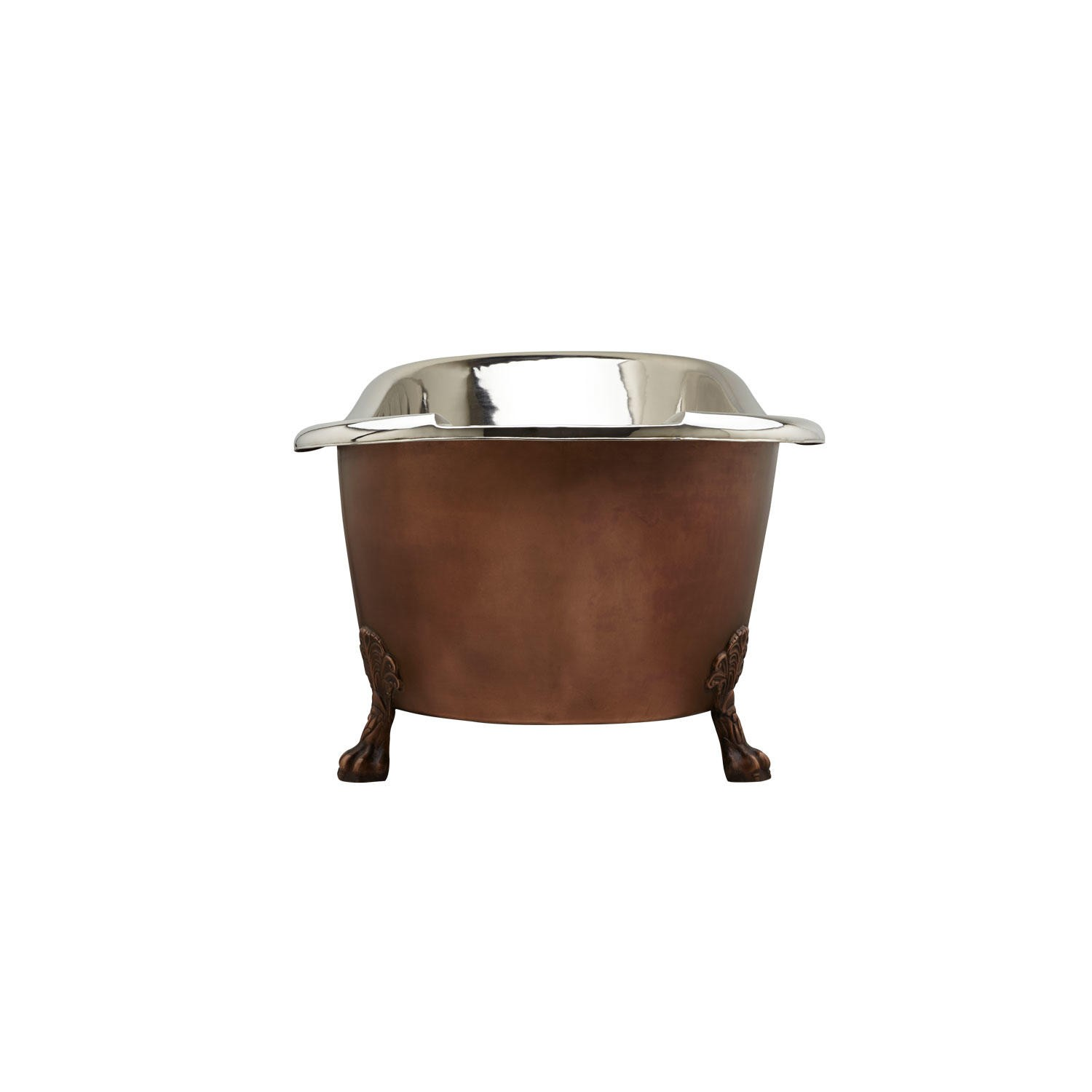 Smooth Copper Nickel Clawfoot Tub | Coppersmith® Creations
