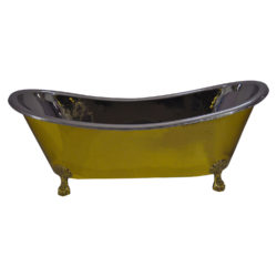 Clawfoot Brass Bathtub Nickel Interior Size(mm): 1828.80 x 812.80 x 736.60