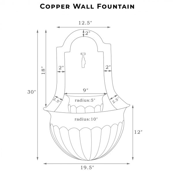 Copper Wall Fountain