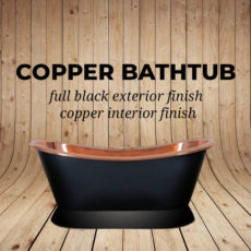 Copper Bathtub Full Black Exterior