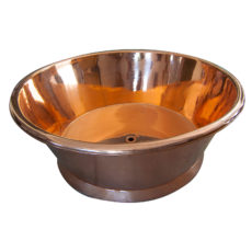 Round Copper Bathtub