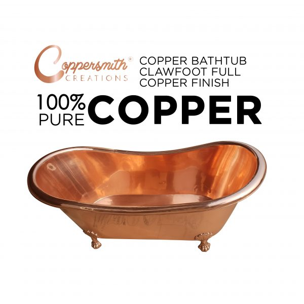 Copper Bathtub Clawfoot Full Copper