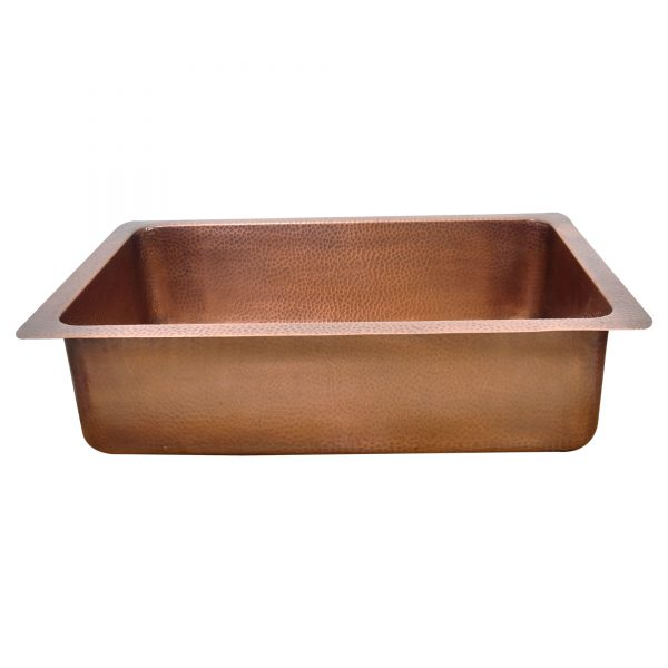 Single Bowl Sunflower Design Front Apron Copper Kitchen Sink