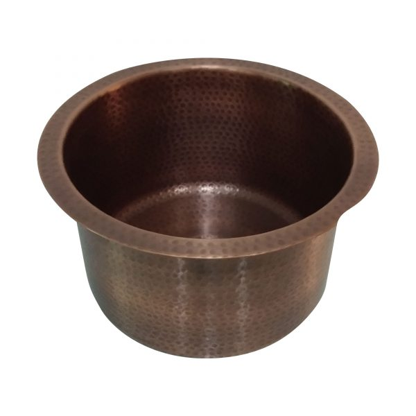 "Round Copper Bar Sink 14"" x 8"""