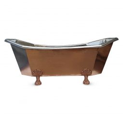 Eight Sided Clawfoot Copper Bathtub Nickel Inside