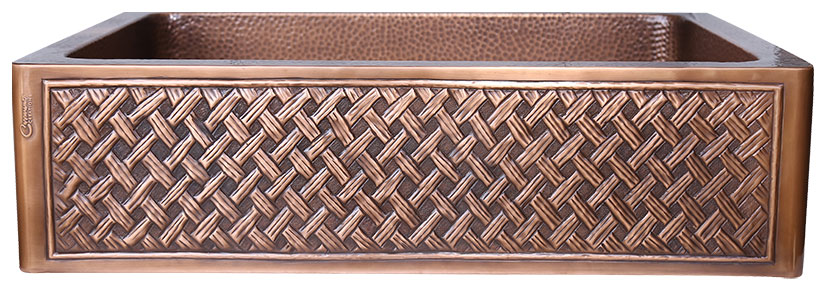 Single Bowl Woven Front Apron Copper Kitchen Sink 2020 Designs