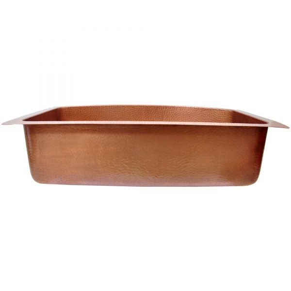 D Shape Petal Front Apron Copper Kitchen Sink