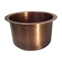 Round Copper Bar Sink 18 x 8 inch