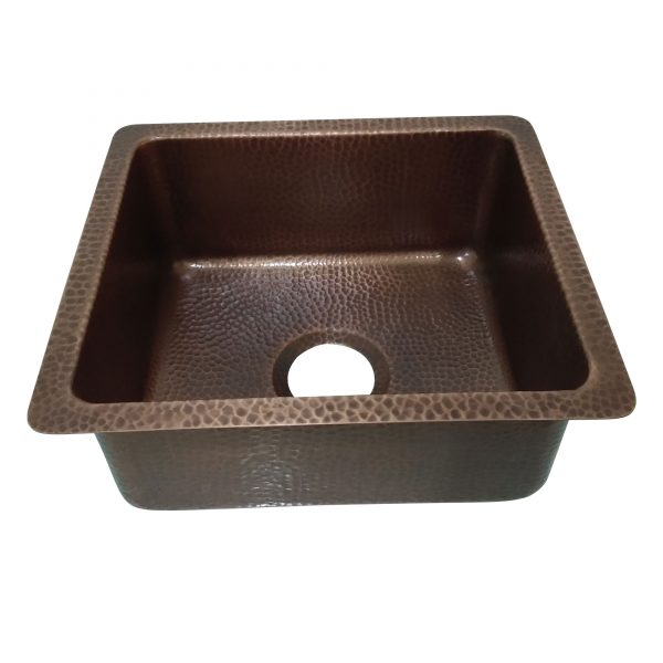 Copper Bar Sink 17.50 x 15.50 x 8 inch