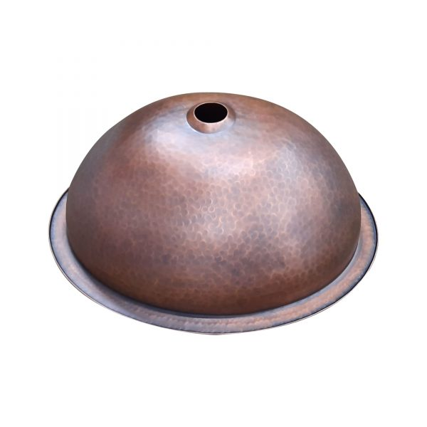 Oval Copper Sink 20 x 15.50 x 6 inch
