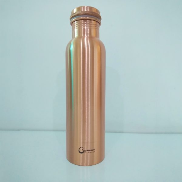 Copper Water Bottle Plain Matt Finish
