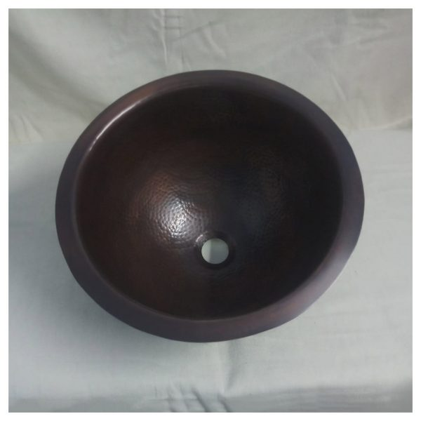 Copper Sink 14x8 Dark Antique